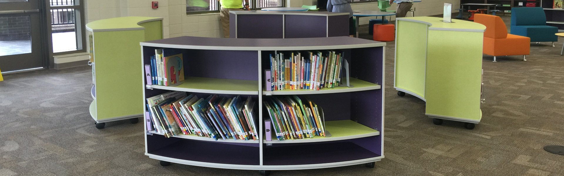 Corilam Library Curved Bookcase